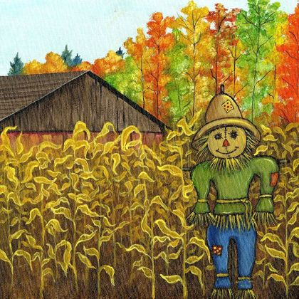 Corn Patch Scarecrow - Print