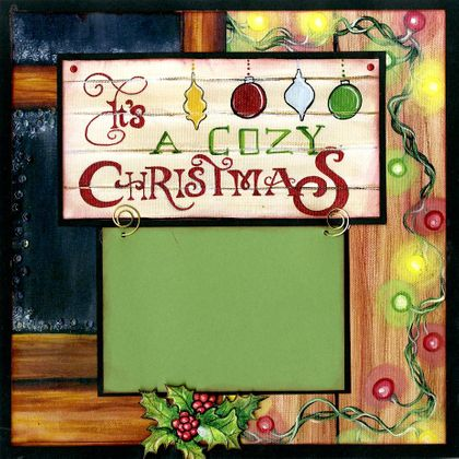 It's A Cozy Christmas - Quick Pages Set (Includes Left & Right Sides)