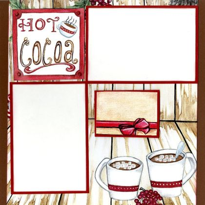 Candy Canes & Hot Cocoa - Quick Pages Set - Right