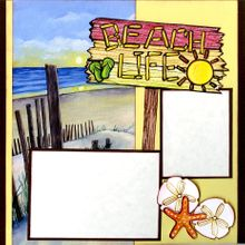 Beach Life Fun (Page Kit) - Left & Right Pages