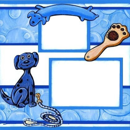 Doggie Bath Time (Page Kit) Left & Right