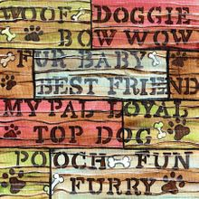 Doggie Day Words - Print