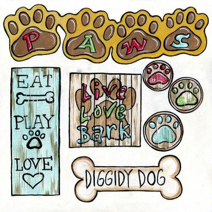 Doggie Paws - Tags