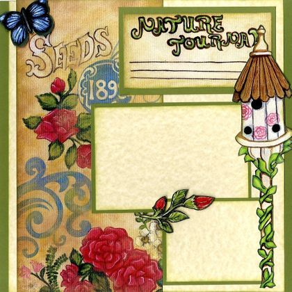 Nature Journal of My Garden (Page Kit) Left & Right Pages