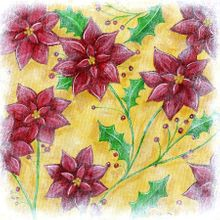 Holiday Poinsettias - Print