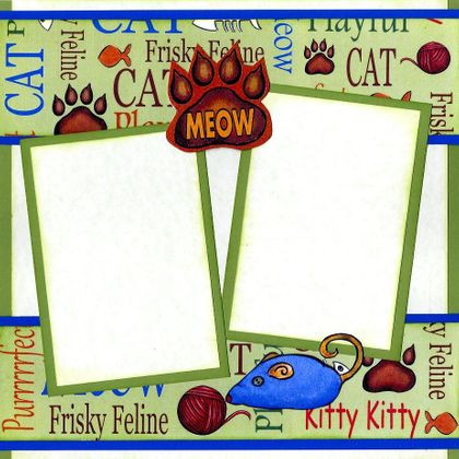 Meow!  Meow!  (Page Kit) Right Side