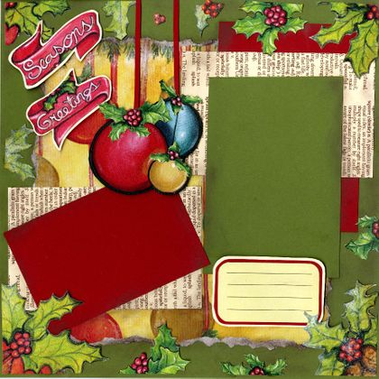 Season's Greetings - Quick Pages Set - Left & Right