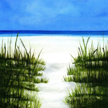 Shore Life Beach Walk - Scrapbook Print