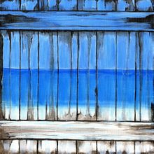 Shore Life Painted Fence - Print