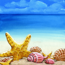 Shore Life Seashells - Scrapbook Print