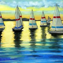 Sunset Sailing - Print