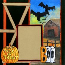 Scary Trick or Treat - Quick Pages Set - Left Page