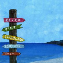 Shore Life Sign Post - Print