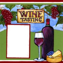 Wine Tasting - Left (Page Kit)