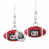 Davenport Panthers Crystal Football Earrings