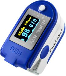 CMS-50D Plus Fingertip Pulse Oximeter - Blood Oxygen Monitor - Mini USB Port