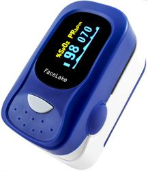 FL100 Fingertip Pulse Oximeter with Alarm & Case