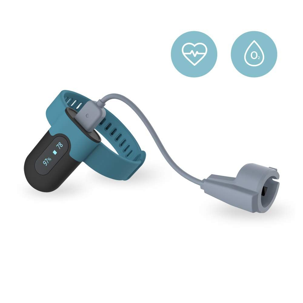 FL330 Wearable Pulse Oximeter with Vibration Alarm,APP