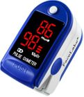 FL400 Fingertip Pulse Oximeter - Blood Oxygen Monitor (Blue) - with Case