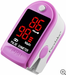 FL400 Fingertip Pulse Oximeter - Blood Oxygen Monitor (Pink) - with Case