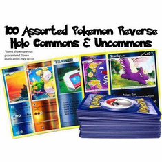 100 Assorted Pokemon Reverse Holo Commons & Uncommons (Pokemon)