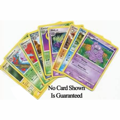 100 Random Pokemon Common & Uncommon Cards