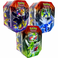 2009 Platinum Pokemon Set of 3 Card Collector Tins: Shaymin, Dialga & Giratina