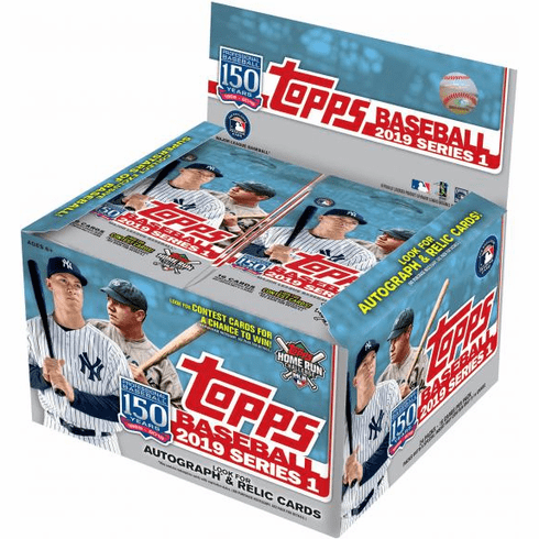 2019 Topps Series 1 Mlb Baseball Enormous Hta Hobby Factory Sealed Jumbo Box