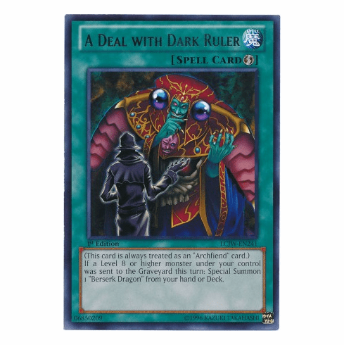 A Deal with Dark Ruler LCJW-EN241 - YuGiOh Joey's World Rare Card