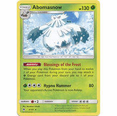 Abomasnow 4/131 Rare - Pokemon Sun & Moon Forbidden Light Card