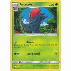 Accelgor 9/111 Uncommon - Pokemon Crimson Invasion Card