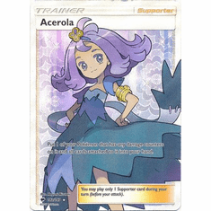 Acerola 142/147 Full Art - Pokemon Sun & Moon Burning Shadows Card