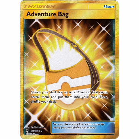Adventure Bag - 228/214 -  Sun & Moon: Lost Thunder  Secret Rare