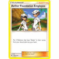 Aether Foundation Employee - 168/214 Pokemon � SM Lost Thunder Uncommon