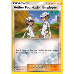 Aether Foundation Employee - 168/214 (Reverse Foil) Pokemon � SM Lost Thunder Uncommon