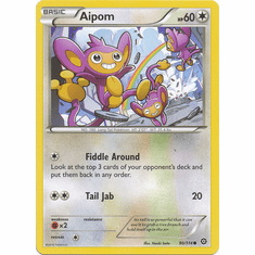 Aipom 90/114 Common - Pokemon XY Steam Siege Card