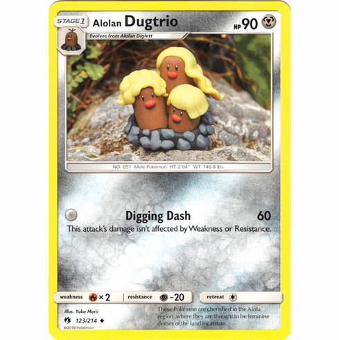 Alolan Dugtrio - 123/214 Pokemon » SM Lost Thunder Uncommon