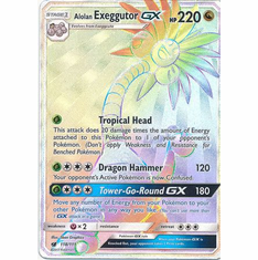 Alolan Exeggutor GX 118/111 Hyper Rare - Pokemon Crimson Invasion Card