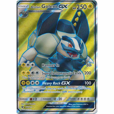 Alolan Golem GX 102/111 Full Art - Pokemon Crimson Invasion Card