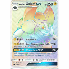 Alolan Golem GX 113/111 Hyper Rare - Pokemon Crimson Invasion Card