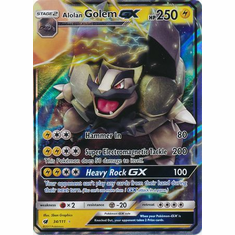 Alolan Golem GX 34/111 Ultra Rare - Pokemon Crimson Invasion Card