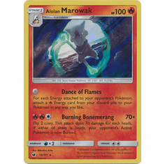 Alolan Marowak 12/111 Holo Rare- Pokemon Crimson Invasion Card