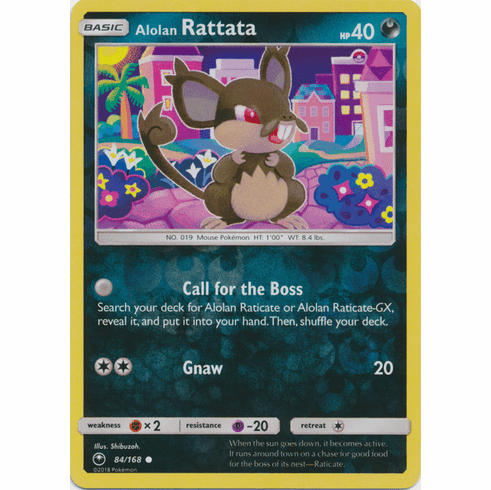 Alolan Rattata 84/168 Common - Celestial Storm SM7 Pokemon Card