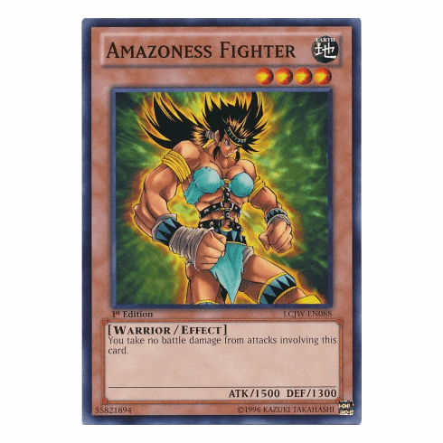 Amazoness Fighter LCJW-EN088 - YuGiOh Joey's World Common Card