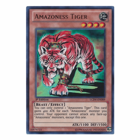 Amazoness Tiger LCJW-EN089 - YuGiOh Joey's World Ultra Rare Card