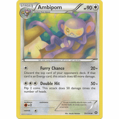 Ambipom 91/114 Uncommon - Pokemon XY Steam Siege Card