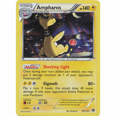 Ampharos 40/114 Rare Holo - Pokemon XY Steam Siege Card