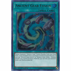 Ancient Gear Fusion - LED2-EN032 - Ultra Rare 1st Edition