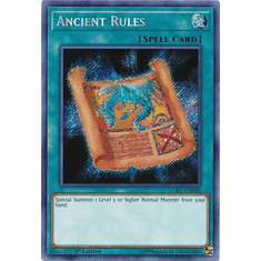 Ancient Rules LCKC-EN039 Secret Rare - Legendary Collection Kaiba