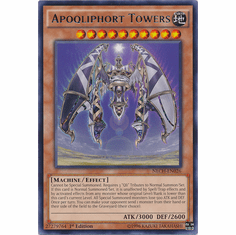 Apoqliphort Towers NECH-EN026 - YuGiOh The New Challengers Rare Card